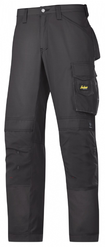 Snickers 3313 Rip-Stop Craftsmen Trousers (Black / Black)